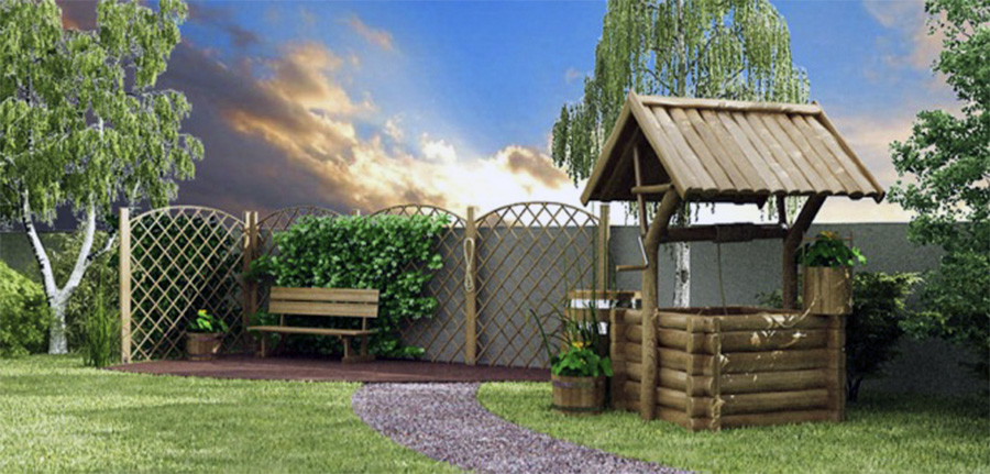Ландшафтный дизайн в деревни - Ландшафтный дизайн деревенского дома простота